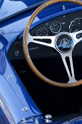 Photograph - 1965 Cobra Sc Steering Wheel 2 by Jill Reger