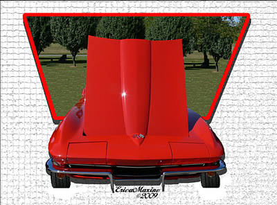 Art Print featuring the photograph 1965 Corvette by EricaMaxine  Price