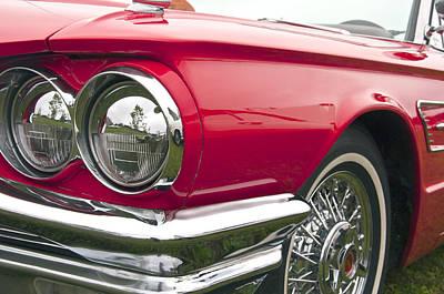 Photograph - 1965 Ford Thunderbird Front End by Glenn Gordon