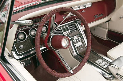 Photograph - 1965 Ford Thunderbird Steering Wheel by Glenn Gordon