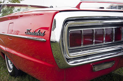 Photograph - 1965 Ford Thunderbird Tail Light by Glenn Gordon