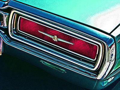 1965 Ford Thunderbird Tail Light Study Art Print by Samuel Sheats