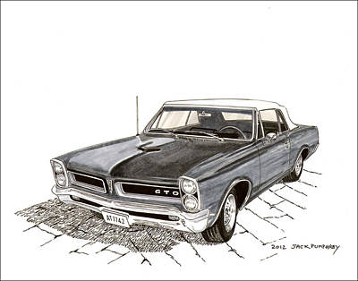 1965 Pontiac Gto Convertible Art Print by Jack Pumphrey