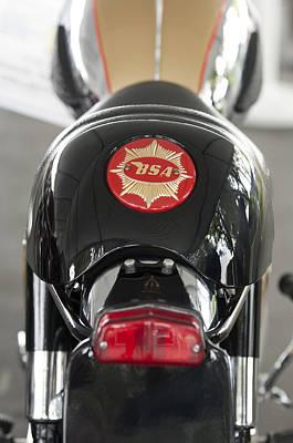 1966 Bsa 650 A-65 Spitfire Lightning Clubman Motorcycle Art Print by Jill Reger