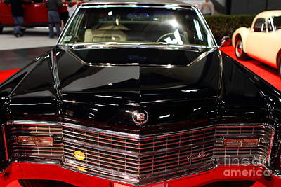 Domestic Car Photograph - 1966 Cadillac Fleetwood Brougham . Black . 7d9320 by Wingsdomain Art and Photography