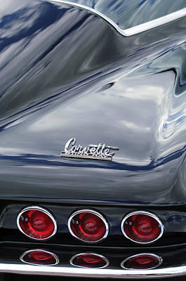 Photograph - 1966 Chevrolet Corvette Tail Lights by Jill Reger