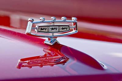 Photograph - 1966 Ford Galaxie 500 Convertible Hood Ornament by Jill Reger