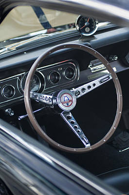 Photograph - 1966 Ford Mustang Cobra Steering Wheel  by Jill Reger