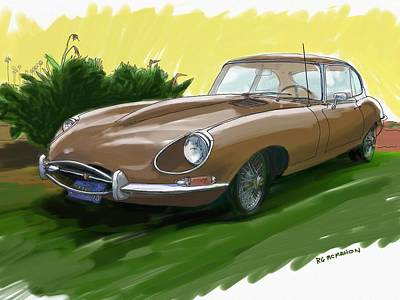 Painting - 1966 Jaguar Xke by RG McMahon