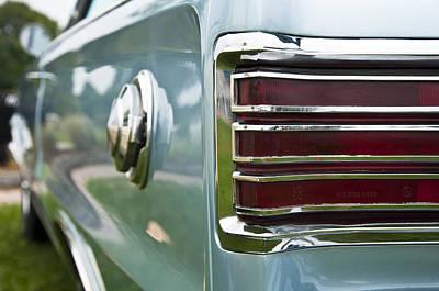 Photograph - 1966 Plymouth Satellite Tail Light by Glenn Gordon