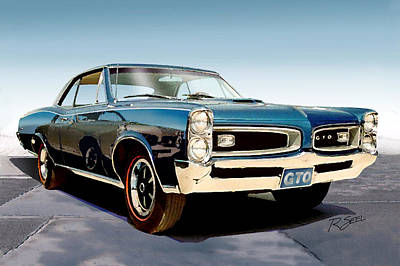 Art Print featuring the painting 1966 Pontiac Gto by Rod Seel