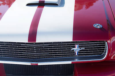 Photograph - 1966 Red Ford Mustang Shelby Gt350 Front by James BO Insogna