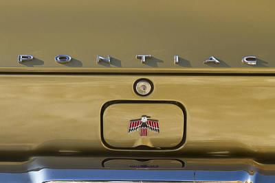 Photograph - 1967 Bronze Pontiac Firebird Back Emblem by James BO Insogna