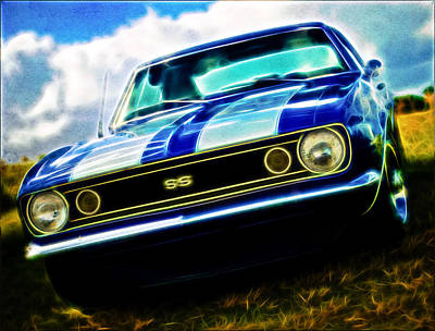1967 Chevrolet Camaro Ss Art Print by Phil 'motography' Clark