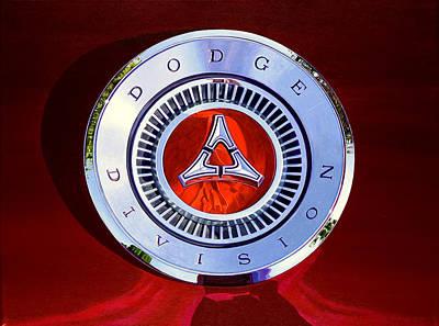 1967 Dodge Charger - Dodge Division Badge Art Print by Jeff Taylor