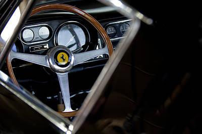 1967 Ferrari 275 Gtb 4 Steering Wheel Emblem Art Print by Jill Reger