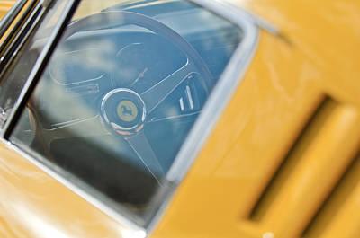 Photograph - 1967 Ferrari 275 Gtb4 Steering Wheel by Jill Reger