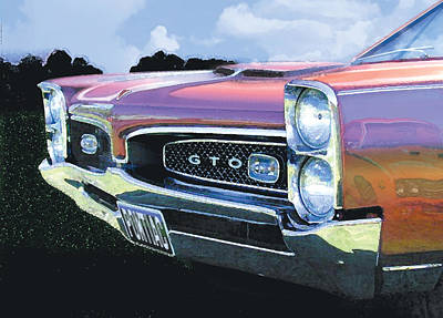 Leman Painting - 1967 Gto by Rod Seel
