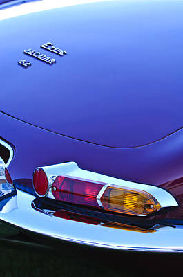 Photograph - 1967 Jaguar E-type 4.2 Liter Series 1 Roadster Taillight by Jill Reger