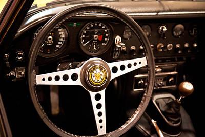 Jaguar Photograph - 1967 Jaguar E-type Series Steering Wheel by David Patterson