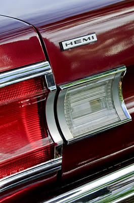 Photograph - 1967 Plymouth Hemi Taillight  by Jill Reger