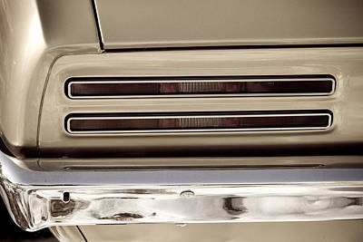 Gold Photograph - 1967 Pontiac Firebird Back Lights Close Up by James BO  Insogna