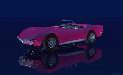 Digital Art - 1968 Chevrolet Corvette by Walter Colvin