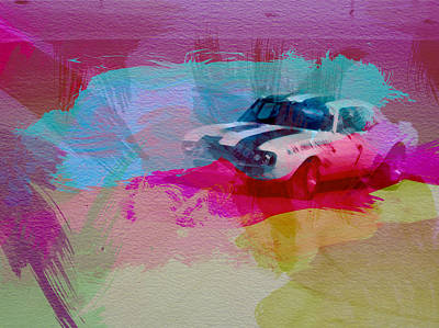 Racing Car Digital Art - 1968 Chevy Camaro by Naxart Studio
