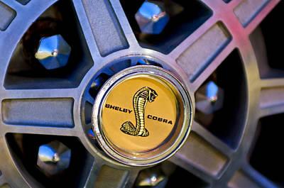 Photograph - 1968 Ford Shelby Gt500 Kr Convertible Wheel Emblem by Jill Reger