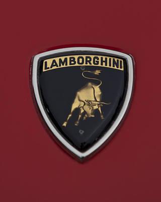 Photograph - 1968 Lamborghini Hood Emblem 2 by Jill Reger