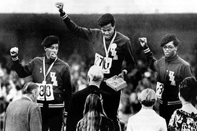1968 Olympics, 400 Meter Run Winners Art Print