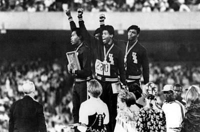 1968 Olympics, 4x100 Mens Relay Team Print by Everett