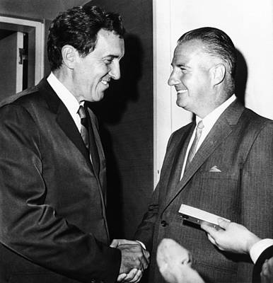 Muskie Photograph - 1968 Republican And Democratic Vice by Everett
