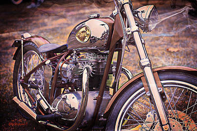 1969 Bsa Js Art Print by SM Shahrokni