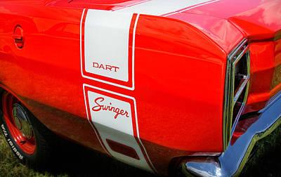 1969 Dodge Dart Swinger 340 Art Print by Thomas Schoeller