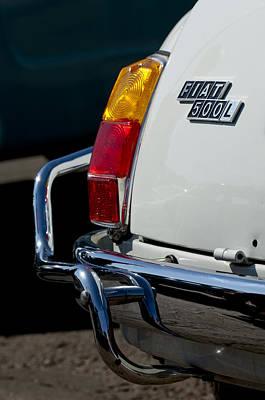Photograph - 1969 Fiat 500 Taillight Emblem by Jill Reger