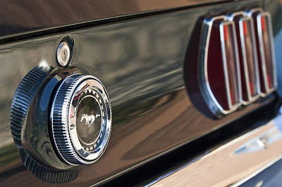 Photograph - 1969 Ford Mustang Taillights by Jill Reger