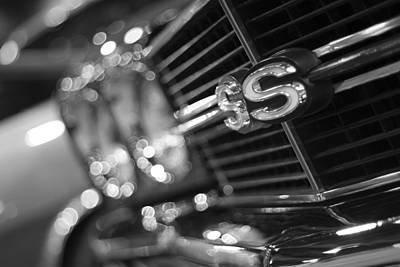 Soap Suds - 1970 Chevy Chevelle SS 396 Black and White by Gordon Dean II