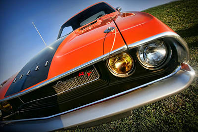 Challenger Digital Art - 1970 Dodge Challenger Rt Hemi Orange by Gordon Dean II