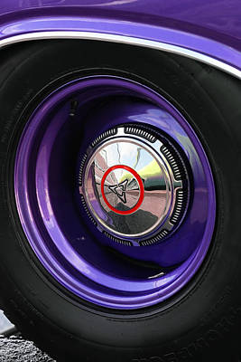 Kitchen Signs Rights Managed Images - 1970 Dodge Challenger RT Wheel Royalty-Free Image by Gordon Dean II
