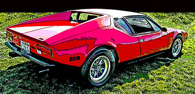 Photograph - 1970 's De Tomaso Pantera by Samuel Sheats