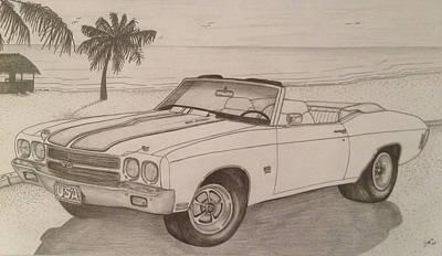 1970 Ss Chevelle Ls6 Art Print