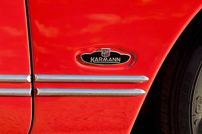 Photograph - 1970 Volkswagen Vw Karmann Ghia Emblem by Jill Reger