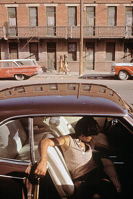 1970s America. A Chicano Teenager Print by Everett
