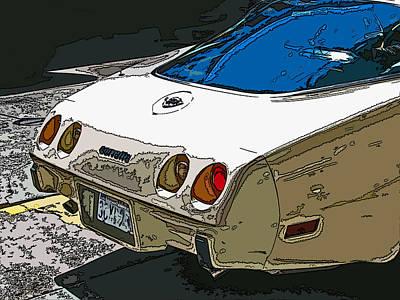 1970s Chevrolet Corvette Stingray Art Print by Samuel Sheats