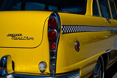 Checker Cab Photograph - 1971 Checker Cab by Roger Mullenhour