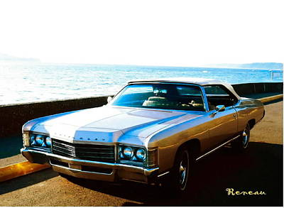 Photograph - 1971 Chevrolet Impala Convertible by Sadie Reneau