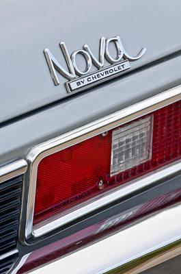 Photograph - 1971 Chevrolet Nova Tail Light by Jill Reger