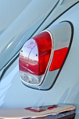 Photograph - 1971 Volkswagen Vw Beetle Taillight by Jill Reger