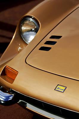 Photograph - 1973 Ferrari 246 Dino Gts Hood Emblem by Jill Reger
